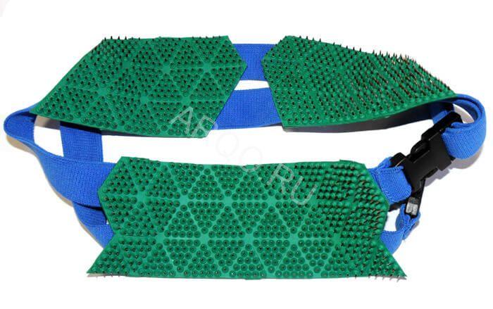 «Пояс Универсальный» (шаг игл 4,3 мм; 3 сегмента), аппликатор Ляпко (Модификация: Базовая, тип аппликатора: Лента - пояс)
